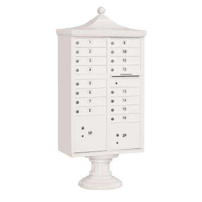 3300R Series White Private 16 A Size Doors Type III Regency Decorative Cluster Box Units