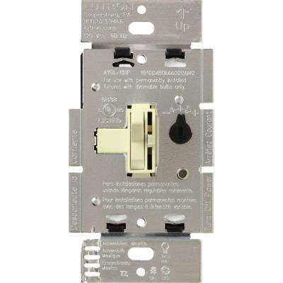 Toggler 250W C.L Dimmer Switch for Dimmable LED, Halogen and Incandescent Bulbs, Single-Pole or 3-Way, Almond