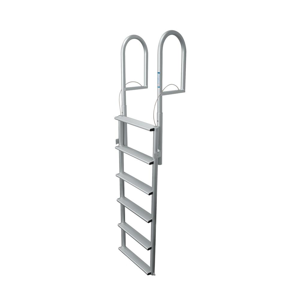 Tommy Docks 6 Rung Step Wide Lifting Aluminum Ladder