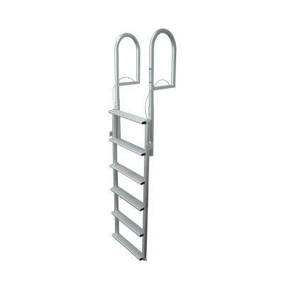 6 Rung Step Wide Lifting Aluminum Ladder