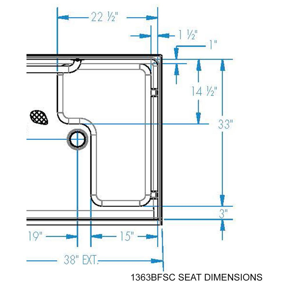 shower stall schematic aquatic accessible acrylx 36 in x 36 in x 75 in 1 piece shower  aquatic accessible acrylx 36 in x 36