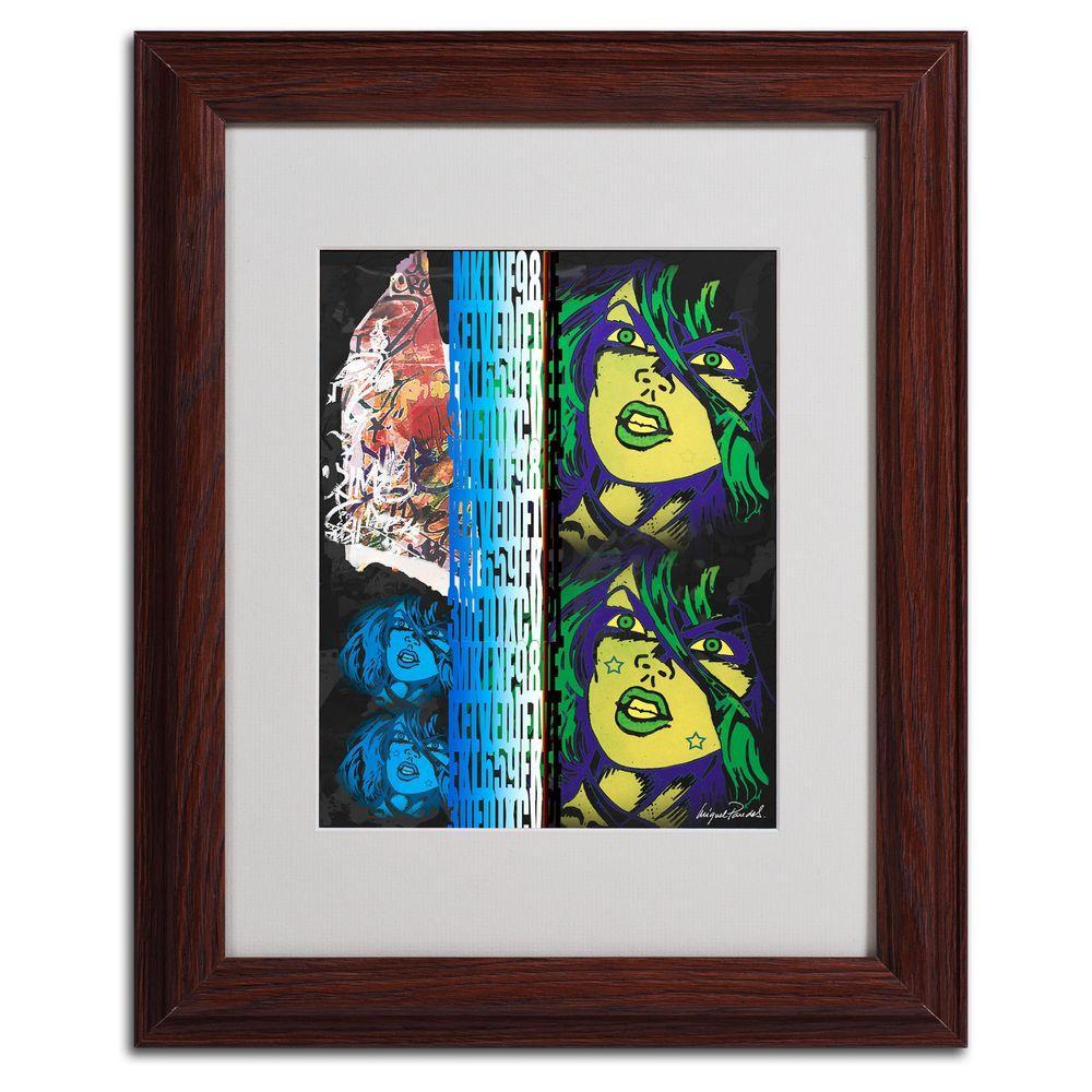null 11 in. x 14 in. Crime in Black Matted Framed Art
