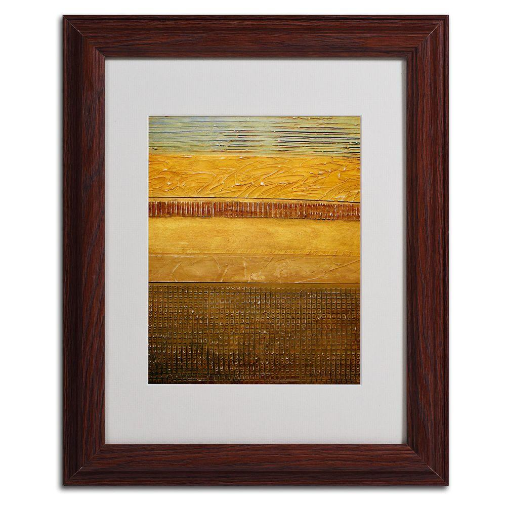 Trademark Fine Art 11 in. x 14 in. Earth Layers Abstract Matted Framed Art