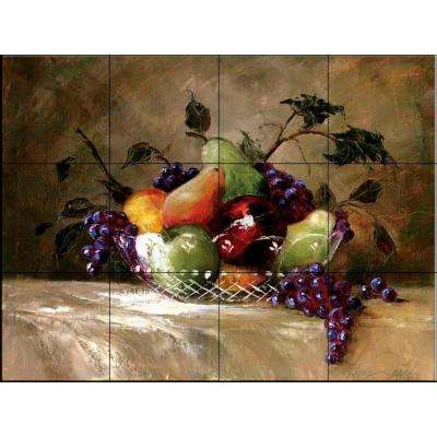 America's Bounty 17 in. x 12-3/4 in. Ceramic Mural Wall Tile