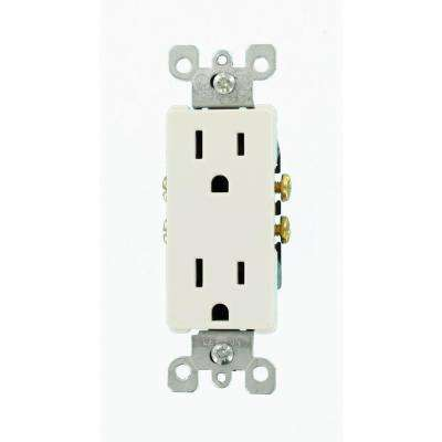 Decora 15 Amp Duplex Outlet, White