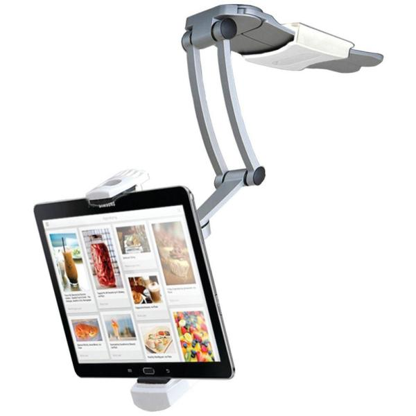 iPad Air/iPad Mini/Surface Pro 4 and 7 in. - 12 in. Tablets 2-in-1 Kitchen Mount Stand