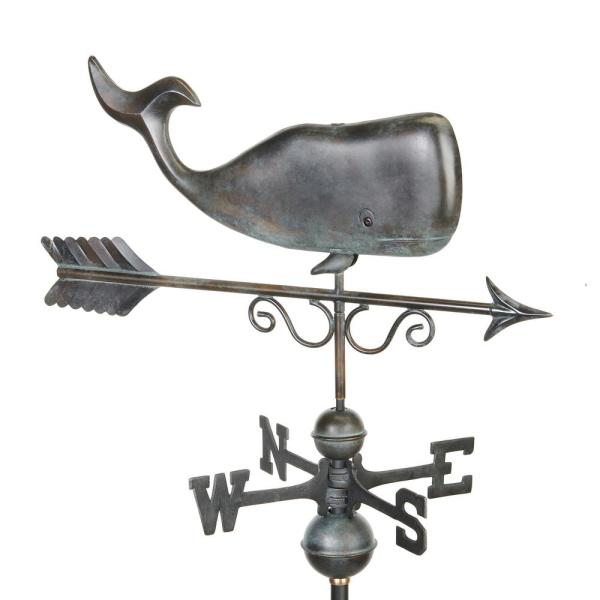 Pure Copper Hand Finished Patina Save the Whales Weathervane