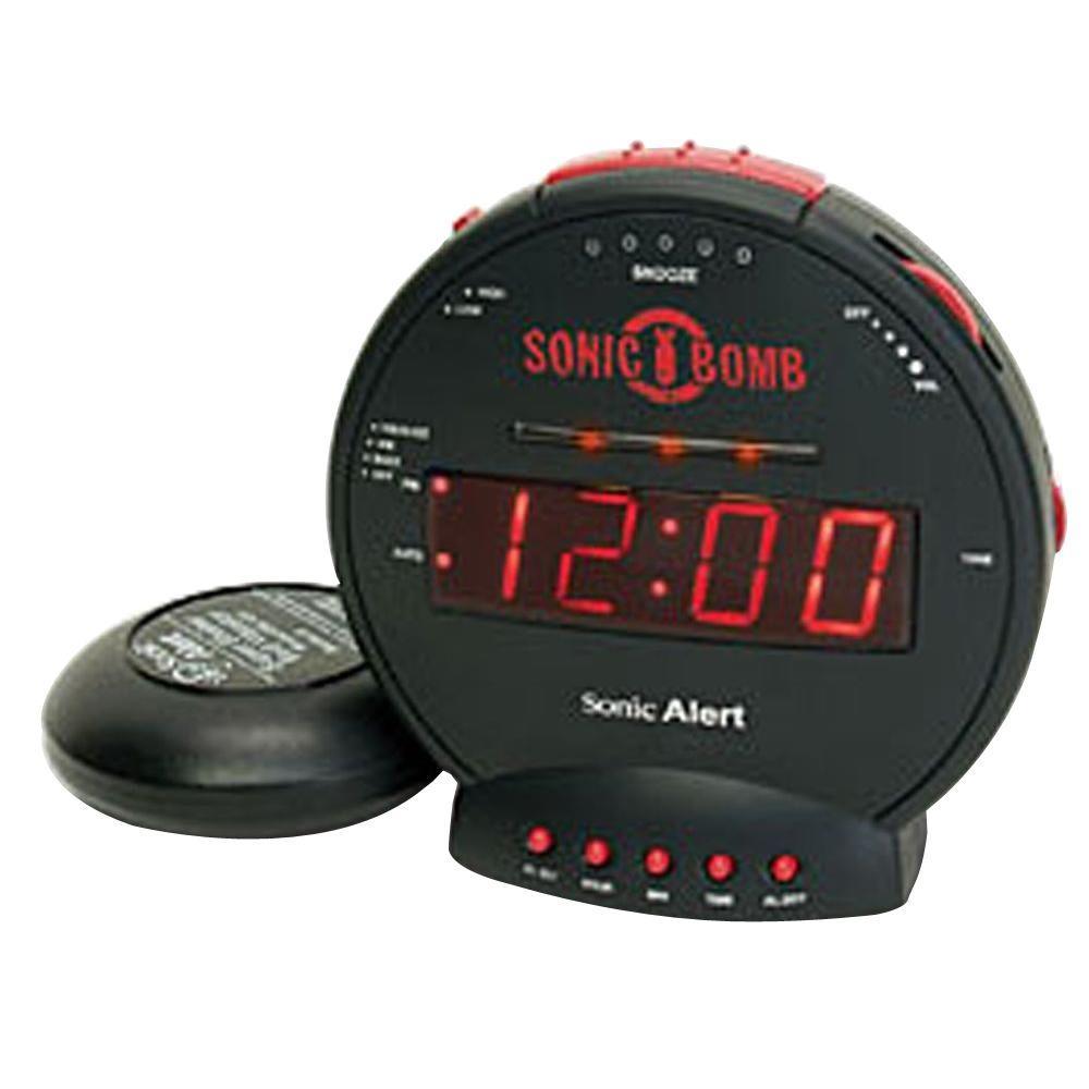 Sonic Alert Sonic Bomb Digital Alarm Clock-SA-SBB500SS - The Home Depot