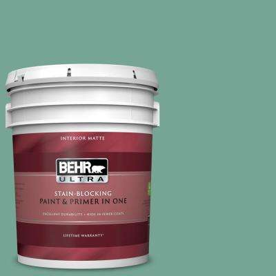 5 gal. #MQ6-38 Patina Matte Interior Paint and Primer in One