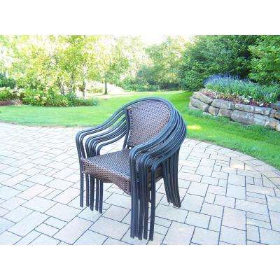 Tuscany Wicker Outdoor Dining Chair (6-Pack)