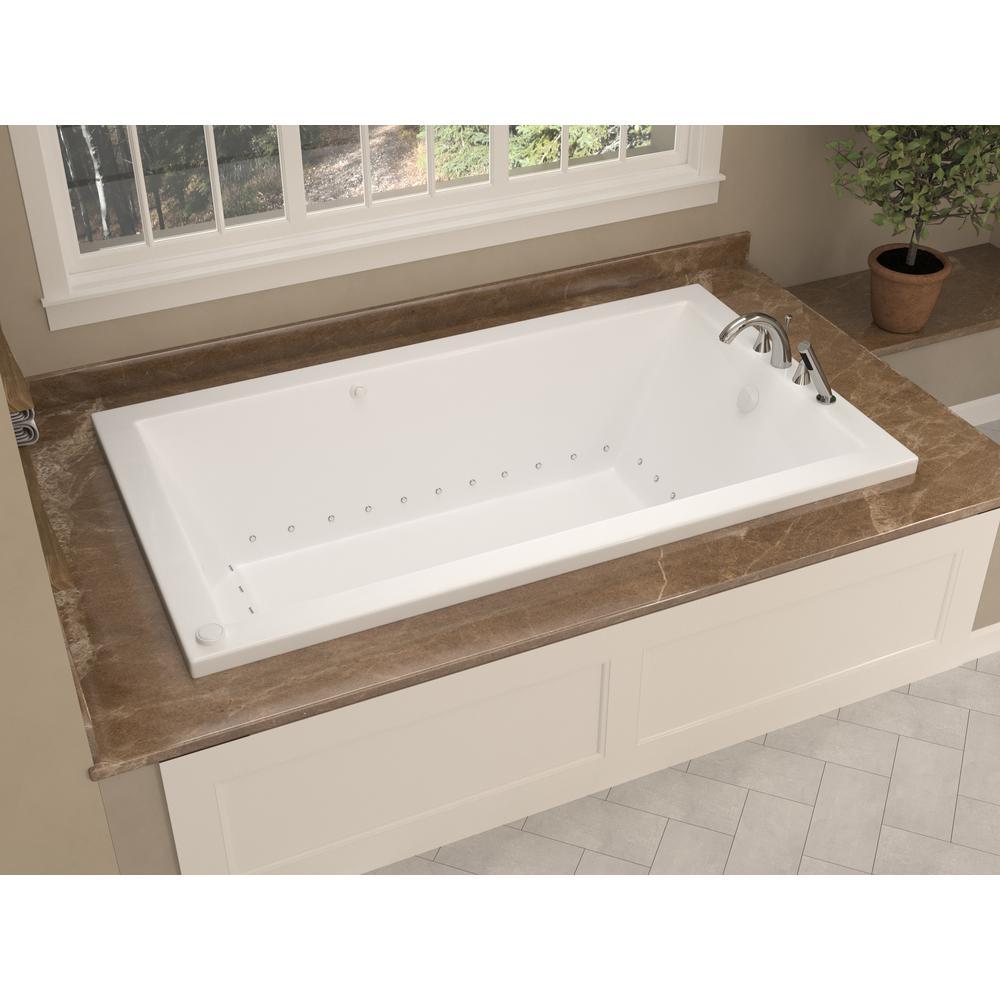 Universal Tubs Sapphire 66 In Rectangular Drop In Air Bath Tub In White Hd3266vnar The Home Depot