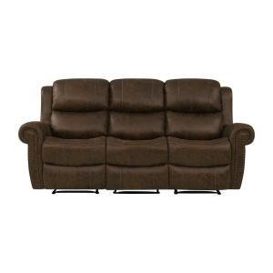 Admirable Prolounger Distressed Saddle Brown Faux Leather 3 Seat Gmtry Best Dining Table And Chair Ideas Images Gmtryco