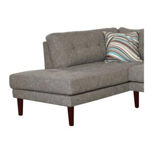 Gray Linen 2-Piece Sectional Sofa Set SH6002A - The Home Depot