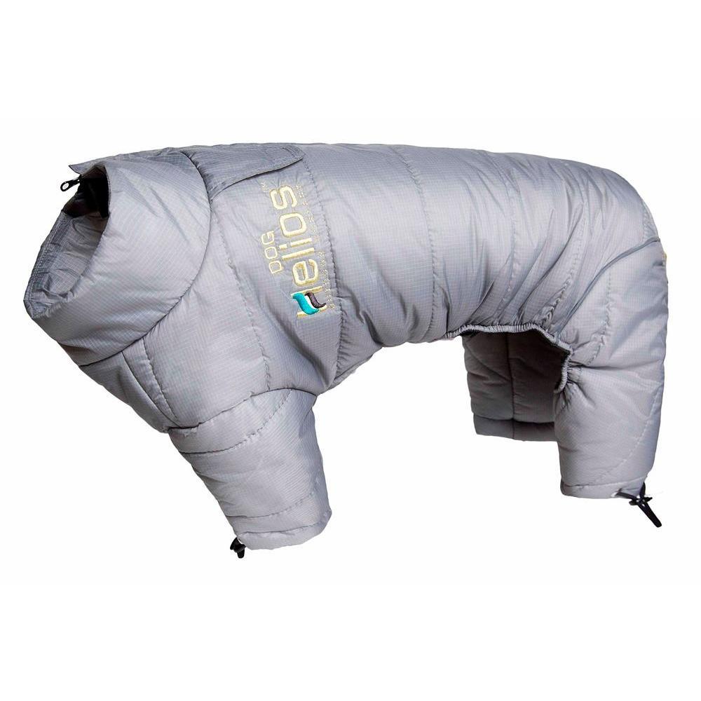 X-Small Grey Thunder-crackle Full-Body Waded-Plush Adjustable and 3M Reflective Dog Jacket