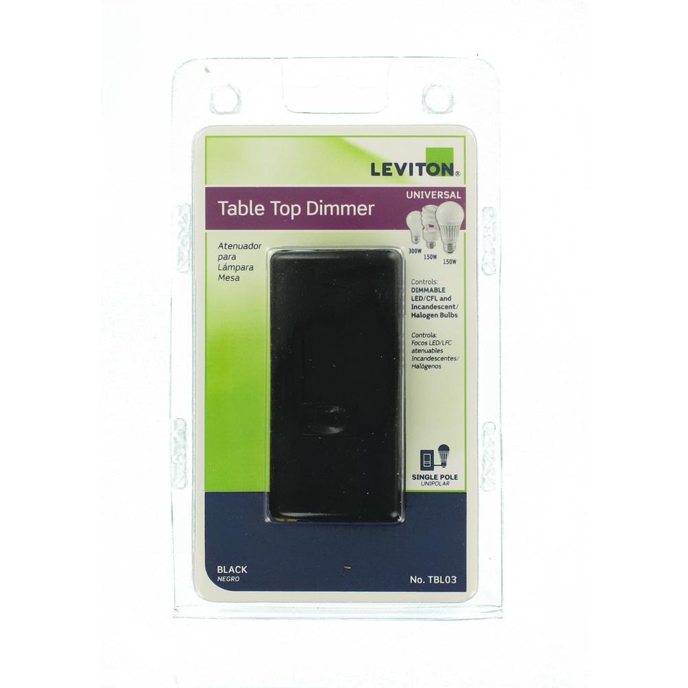 300-Watt Incandescent-CFL-LED Tabletop Dimmer, Black