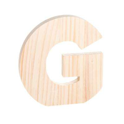 Alpha 8 in. Letter G in Unfinished Wood