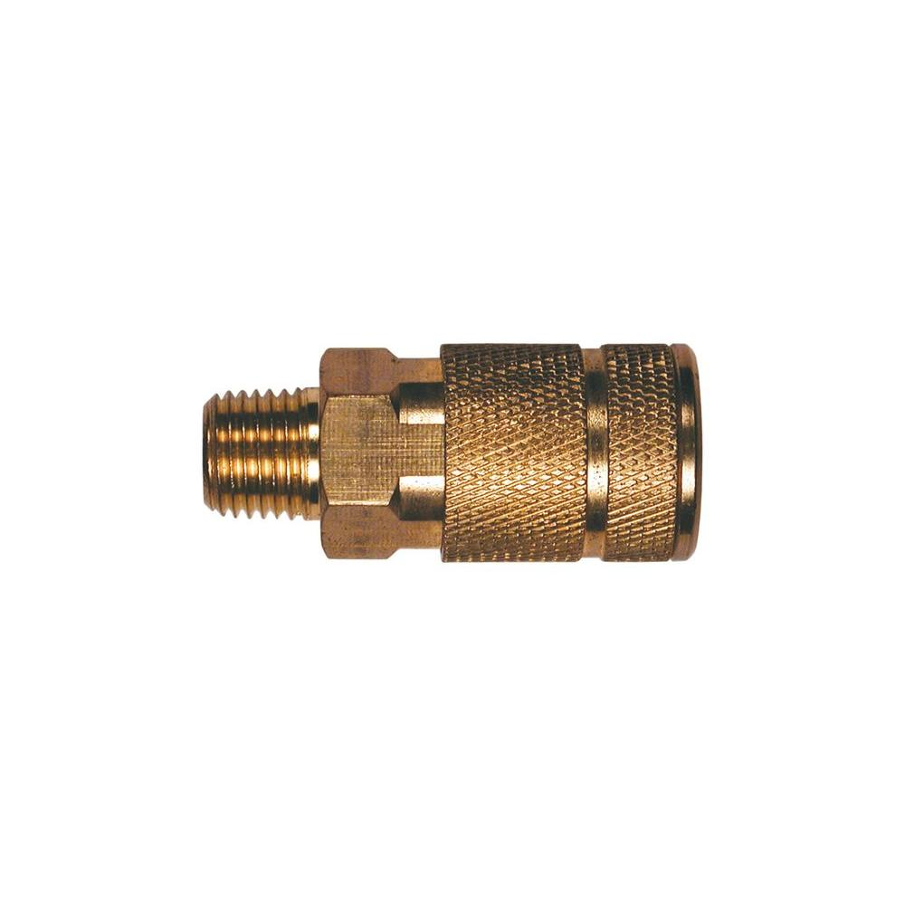 1/4 in. Automotive 6-Ball Brass Coupler with 1/4 in. Male NPT