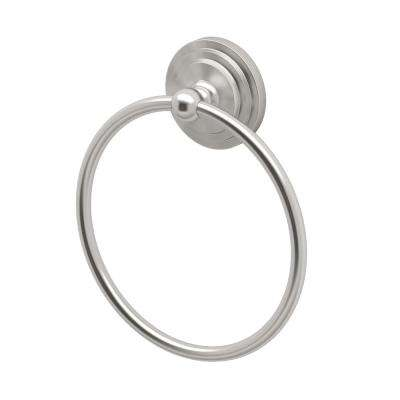 Marina Collection Towel Ring in Satin Nickel
