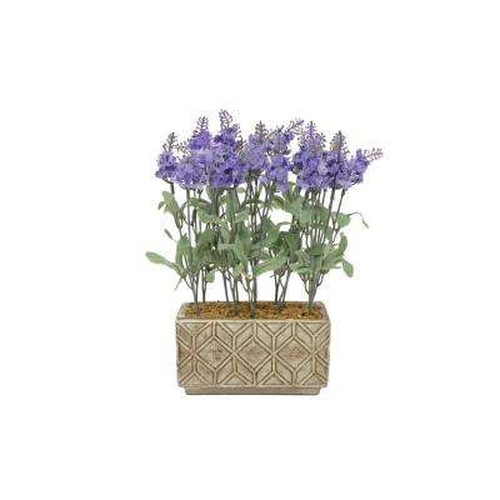 Faux Lavender Pot