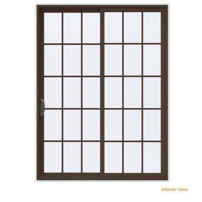 72 In. X 96 In. V 4500 Contemporary Brown Painted Vinyl Left