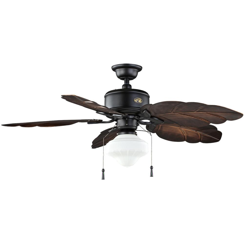 Hampton bay nassau 52 in led indooroutdoor gilded iron ceiling fan led indooroutdoor gilded iron ceiling fan with light mozeypictures Images