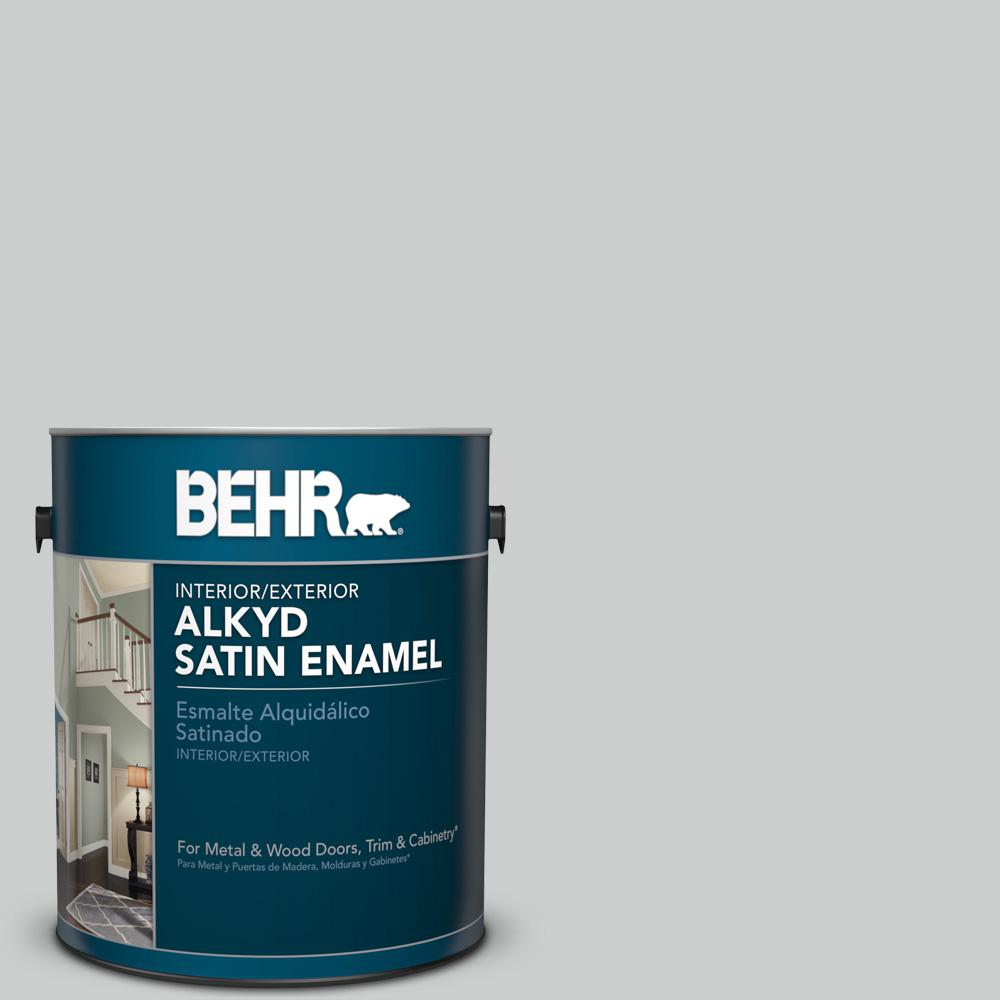 1 gal. #N460-2 Planetary Silver Satin Enamel Alkyd Interior/Exterior Paint