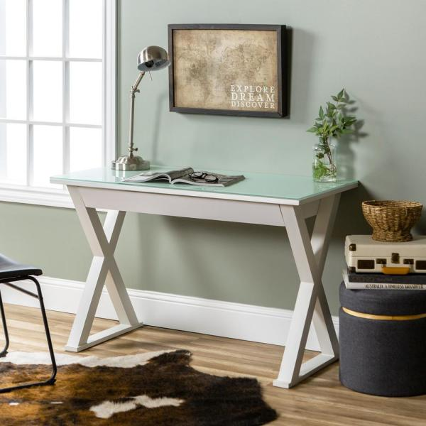 Remarkable Walker Edison Furniture Company Home Office 48 In Glass And Interior Design Ideas Skatsoteloinfo