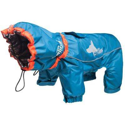 Small Blue Weather-King Ultimate Windproof Full Bodied Pet Jacket