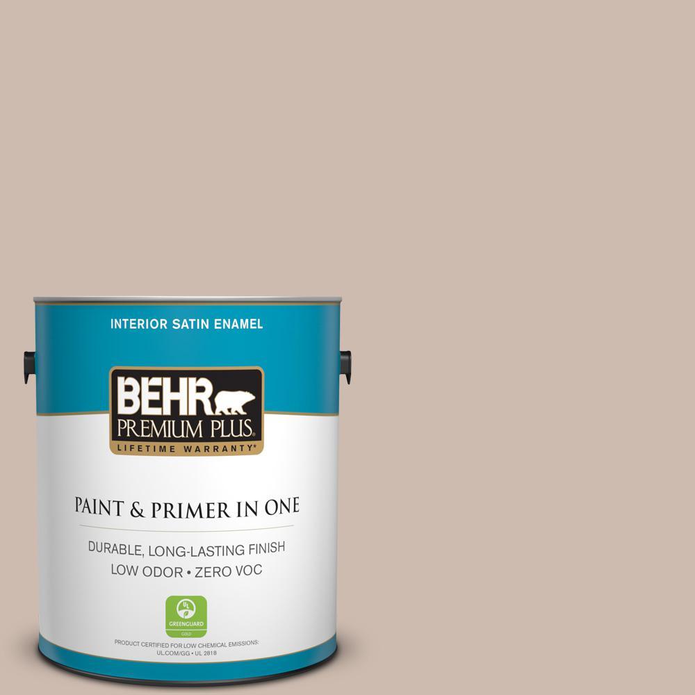 1-gal. #N190-3 Windrift Beige Satin Enamel Interior Paint