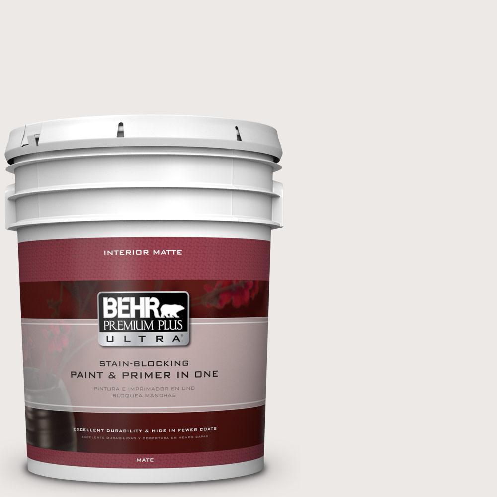 BEHR Premium Plus Ultra 5 gal. #750A-1 Chalk Flat/Matte Interior Paint
