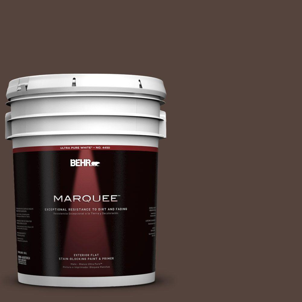 5 gal. #780B-7 Bison Brown Flat Exterior Paint