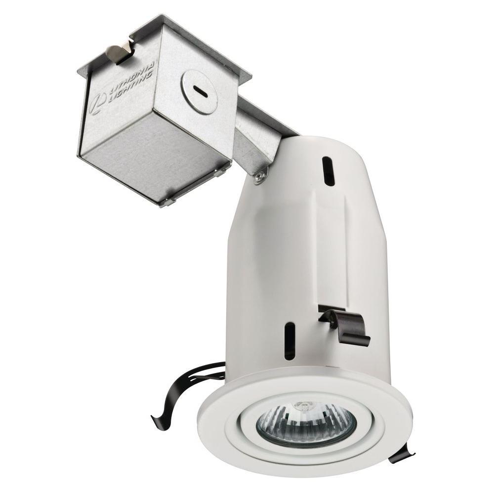 Lithonia Lighting 3 In Gu10 White Gimbal Recessed Kit