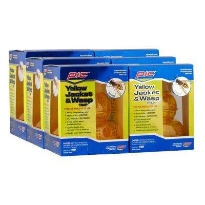 Yellow Jacket and Wasp Traps (6-Pack)
