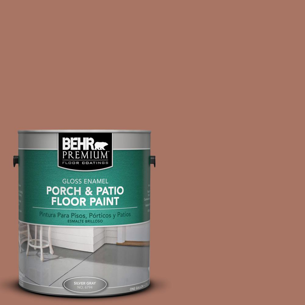 1 gal. #210F-6 Chutney Brown Gloss Porch and Patio Floor Paint