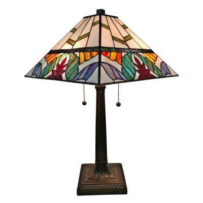 22 in. Multicolored Tiffany Style Multi Color Mission Table Lamp