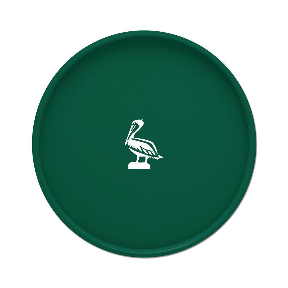 Kraftware Kasualware Pelican 14 inch Round Serving Tray in Green by Kraftware