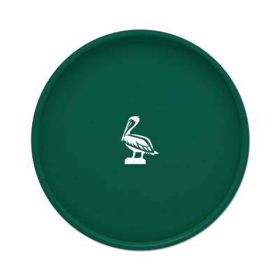 Kasualware Pelican 14 in. Round Serving Tray in Green
