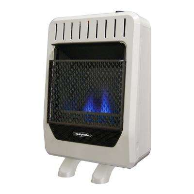 10,000 BTU Unvented Blue Flame Propane Gas Wall Heater with Manual Control