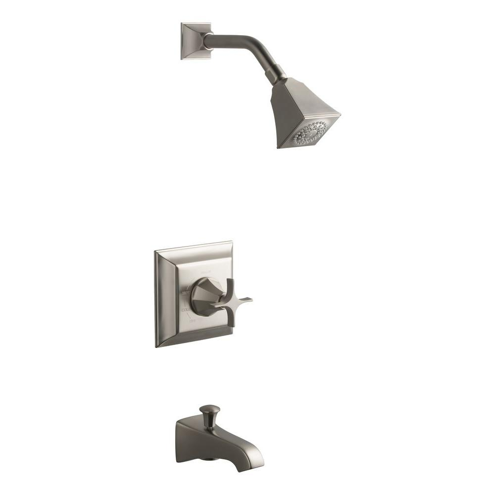 KOHLER Memoirs 1-Handle Pressure-Balancing Bath and Shower Faucet Trim Only in Vibrant Brushed Nickel