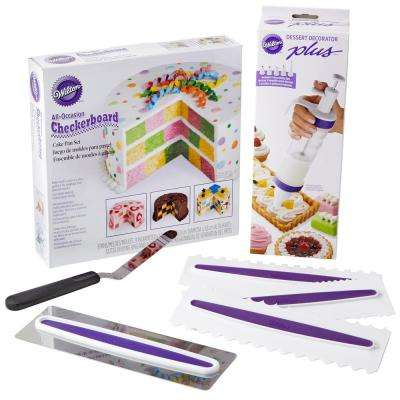 Checkerboard Cake Decorating Set (7-Piece)
