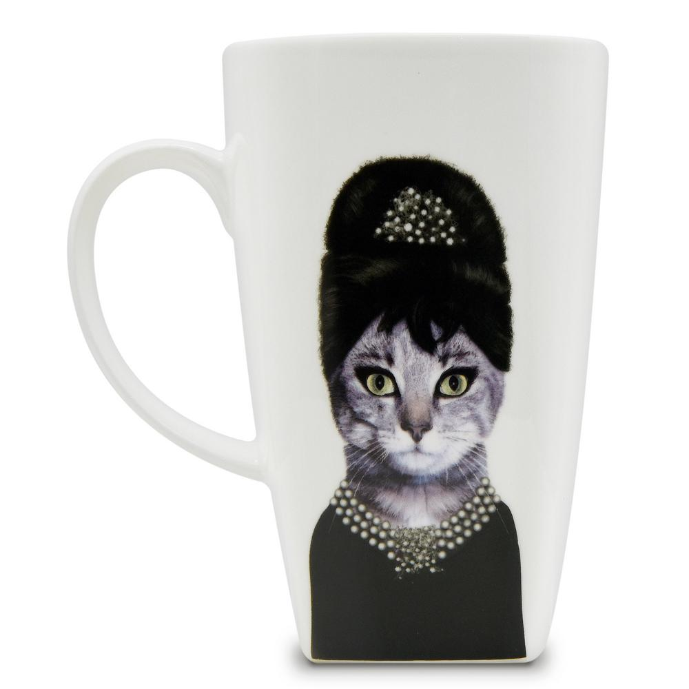 20 oz.  Breakfast  Pets Rock Collectible Fine Bone China Mug, Breakfast These Pets Rock fine bone china coffee mugs give you the option to see the adorable pets you love dressed as celebrities on your mugs. Available with a variety of furry creatures to fit any animal lovers desires. What better way to start your morning than with a cup of Joe and your adorable Pets Rock buddy. The porcelain is milky white in color, beautiful in shape and comfortable in your hand. Color: Breakfast.