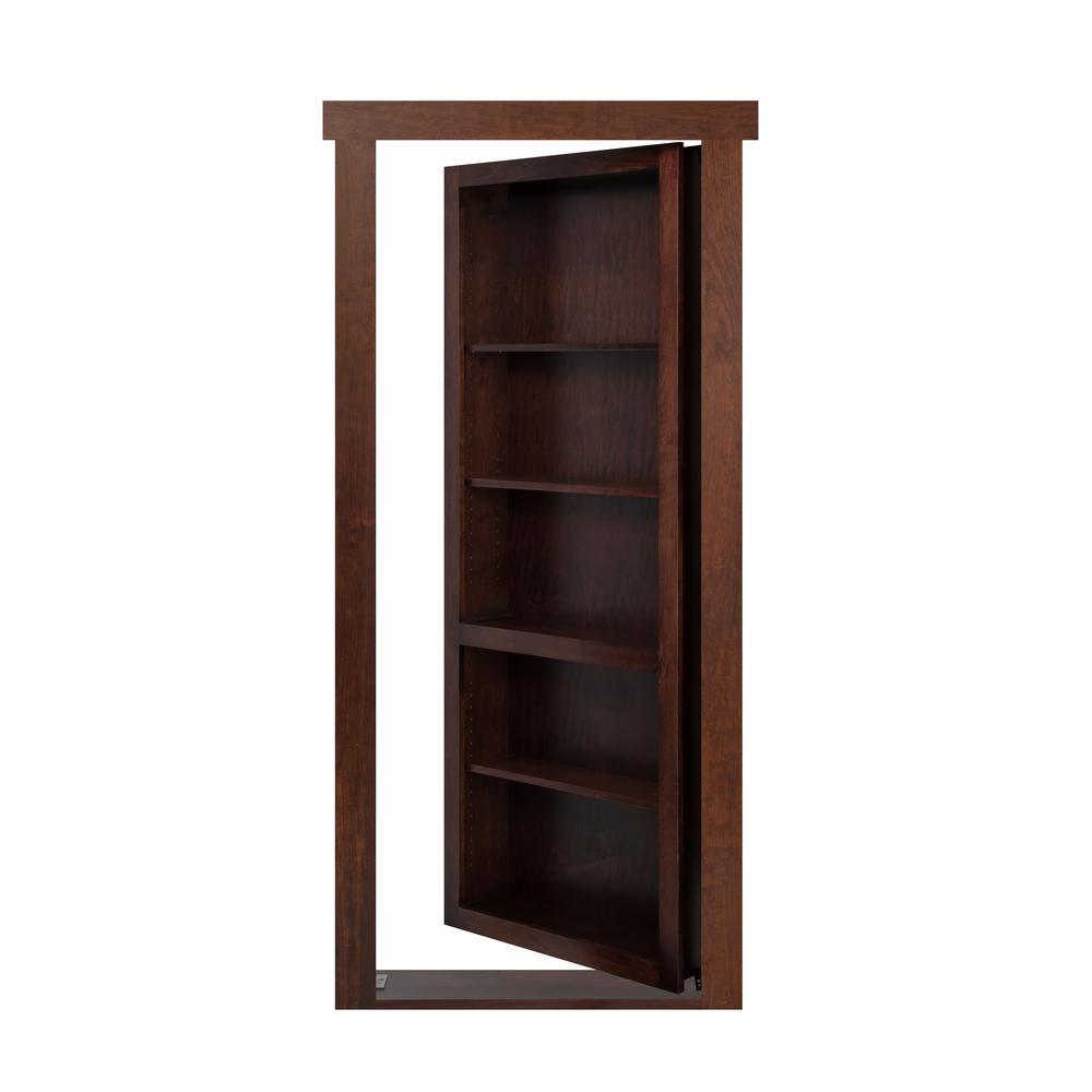 the murphy door 24 in x 80 in assembled dark brown. Black Bedroom Furniture Sets. Home Design Ideas