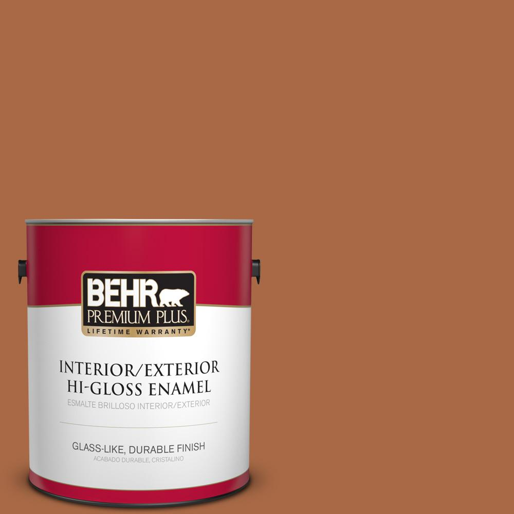 1 gal. #PPU3-16 Maple Glaze Hi-Gloss Enamel Interior/Exterior Paint