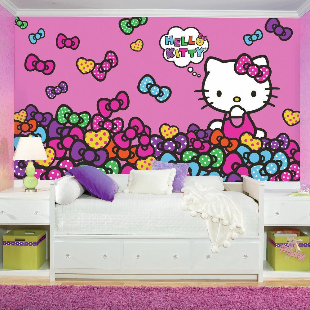 RoomMates 72 in x 126 in Hello Kitty Bow Tastic XL Chair Rail Pre