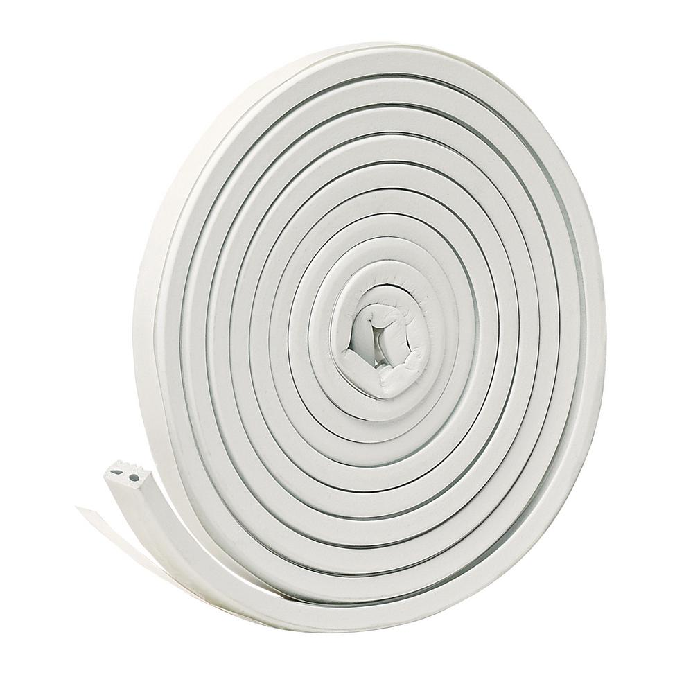 Frost King E/O 9/16 in. x 5/16 in. x 10 ft. White EPDM Cellular Rubber Weather-Strip Tape Cushioned Ribbed