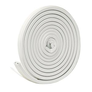 9/16 in. x 5/16 in. x 10 ft. White EPDM Cellular Rubber Weather-Strip Tape Cushioned Ribbed