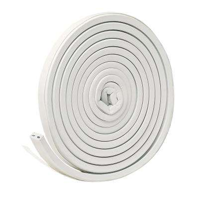 E/O 9/16 in. x 5/16 in. x 10 ft. White EPDM Cellular Rubber Weather-Strip Tape Cushioned Ribbed