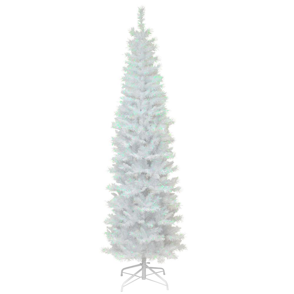 National Tree Company 6 ft. White Iridescent Tinsel Artificial ...
