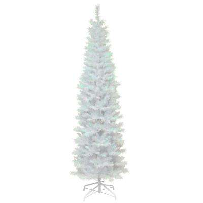 white iridescent tinsel artificial christmas tree