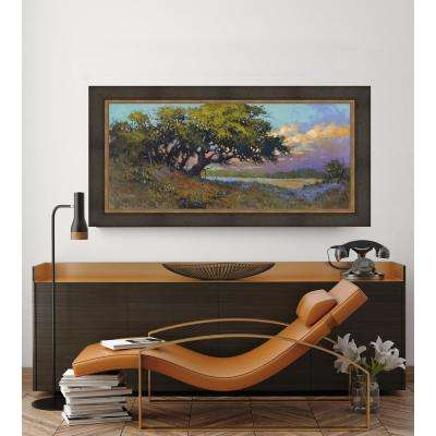 38.5 in. x 68.5 in. 'Wildflower Evening' by HC Zachary Fine Art Canvas Framed Print Wall Art